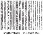 tire tracks of various vehicles | Shutterstock .eps vector #1184506453