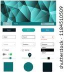 light blue  green vector design ...