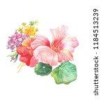 beautiful floral garland ... | Shutterstock . vector #1184513239