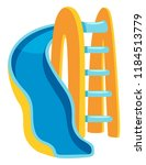 blue and yellow slide... | Shutterstock .eps vector #1184513779
