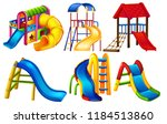 set of playground equipment... | Shutterstock .eps vector #1184513860