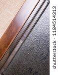 solid wood ebony tea tray set | Shutterstock . vector #1184514313