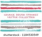 long ink brush strokes isolated ...   Shutterstock .eps vector #1184530549