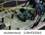 stepper driver on breadboard | Shutterstock . vector #1184533363