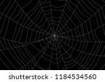 large white spider web on black ... | Shutterstock . vector #1184534560