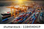 logistics and transportation of ... | Shutterstock . vector #1184540419