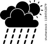 weather icon vector | Shutterstock .eps vector #1184542879