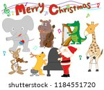 christmas concert at the zoo.... | Shutterstock .eps vector #1184551720