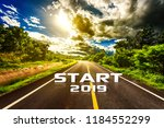 the word start 2019 written on... | Shutterstock . vector #1184552299