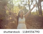 beautiful pregnant woman in the ...   Shutterstock . vector #1184556790