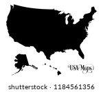 map of the united states of... | Shutterstock .eps vector #1184561356