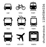 set transport icons on white... | Shutterstock .eps vector #1184584336