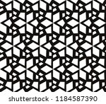 black and white geometric... | Shutterstock .eps vector #1184587390