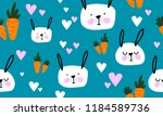 seamless pattern with carrots... | Shutterstock .eps vector #1184589736
