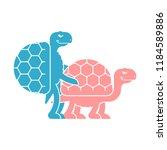 turtle sex. tortoise... | Shutterstock .eps vector #1184589886