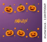 happy halloween greeting card... | Shutterstock .eps vector #1184593069