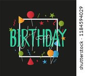 birthday greeting card design...   Shutterstock .eps vector #1184594029