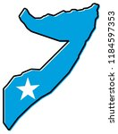 simplified map of somalia... | Shutterstock .eps vector #1184597353