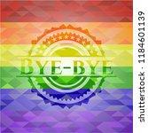 bye bye lgbt colors emblem  | Shutterstock .eps vector #1184601139