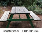 the bench is standing in the... | Shutterstock . vector #1184604853