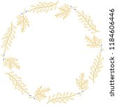 flower   leaves decoration | Shutterstock .eps vector #1184606446
