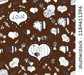 vector. seamless lettering made ... | Shutterstock .eps vector #1184611396