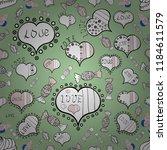 vector illustration. valentines ... | Shutterstock .eps vector #1184611579