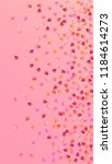 lovely pink hearts falling on... | Shutterstock .eps vector #1184614273