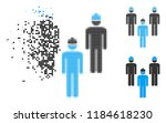 standing engineer group icon in ... | Shutterstock .eps vector #1184618230