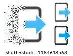 exit door icon in dissolved ...   Shutterstock .eps vector #1184618563