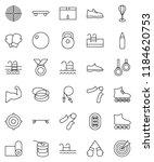 thin line vector icon set  ... | Shutterstock .eps vector #1184620753