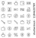 thin line vector icon set  ...   Shutterstock .eps vector #1184620789