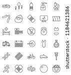 thin line vector icon set  ... | Shutterstock .eps vector #1184621386
