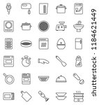 thin line vector icon set  ... | Shutterstock .eps vector #1184621449