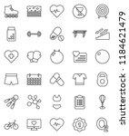 thin line vector icon set  ... | Shutterstock .eps vector #1184621479