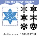 snowflake  find the shadow.... | Shutterstock .eps vector #1184621983
