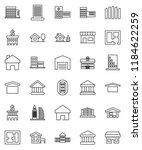 thin line vector icon set  ... | Shutterstock .eps vector #1184622259