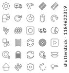 thin line vector icon set  ... | Shutterstock .eps vector #1184622319
