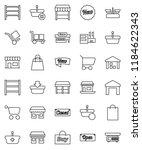 thin line vector icon set  ... | Shutterstock .eps vector #1184622343