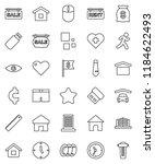 thin line vector icon set  ...   Shutterstock .eps vector #1184622493