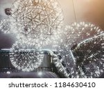 light bulbs as world circle... | Shutterstock . vector #1184630410