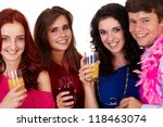 group of young smiling happy... | Shutterstock . vector #118463074