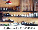 the coffee shop in a vintage... | Shutterstock . vector #1184631406