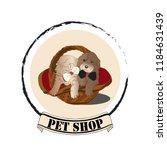 cute labrador puppies like a... | Shutterstock .eps vector #1184631439
