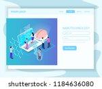 nano technology development ... | Shutterstock .eps vector #1184636080