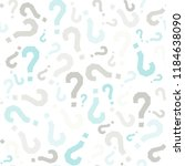 quiz seamless pattern. question ... | Shutterstock .eps vector #1184638090