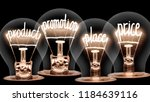 photo of light bulbs with... | Shutterstock . vector #1184639116