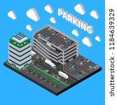 multistorey garage structure... | Shutterstock .eps vector #1184639329