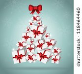 stylish christmas tree from... | Shutterstock .eps vector #118464460