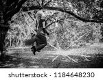young beautiful and mysterious...   Shutterstock . vector #1184648230